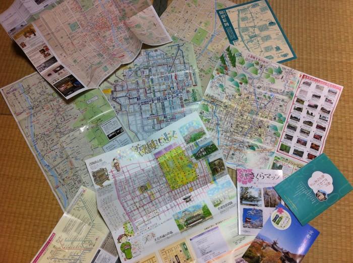 看地圖成了我每天的課題 My daily homework - Mapping Kyoto 毎日の宿題
